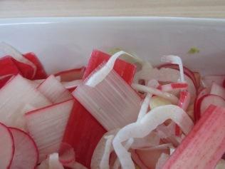 Rhubarb coleslaw
