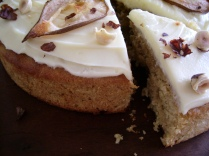 Pear, parsnip and ginger cake